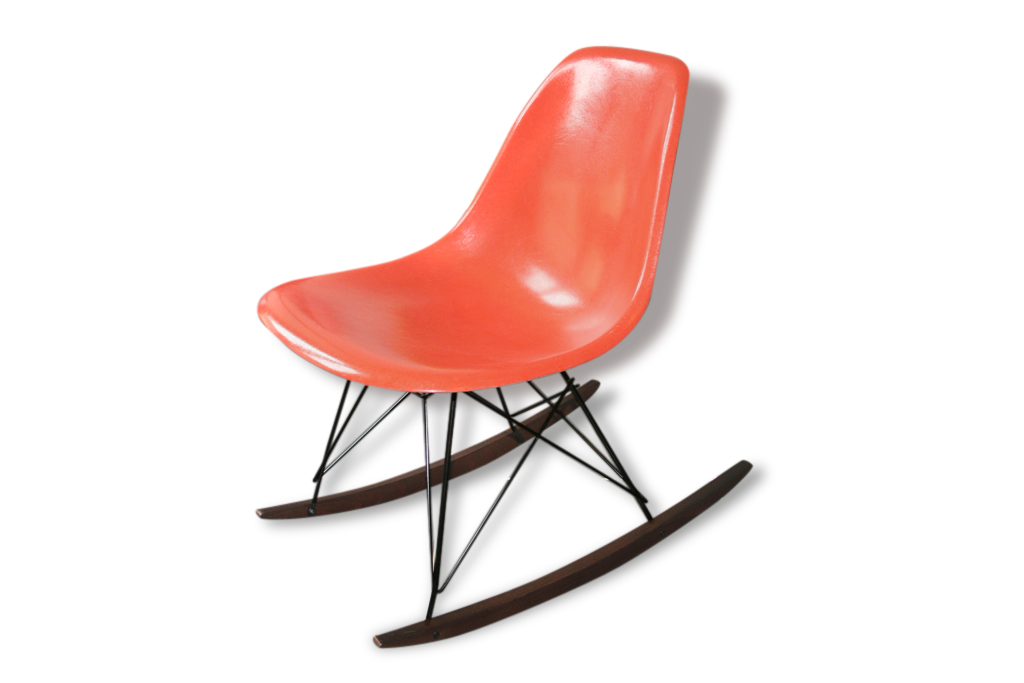 Eames Chaise à Bascule Rocking Chair Red Orange Herman Miller