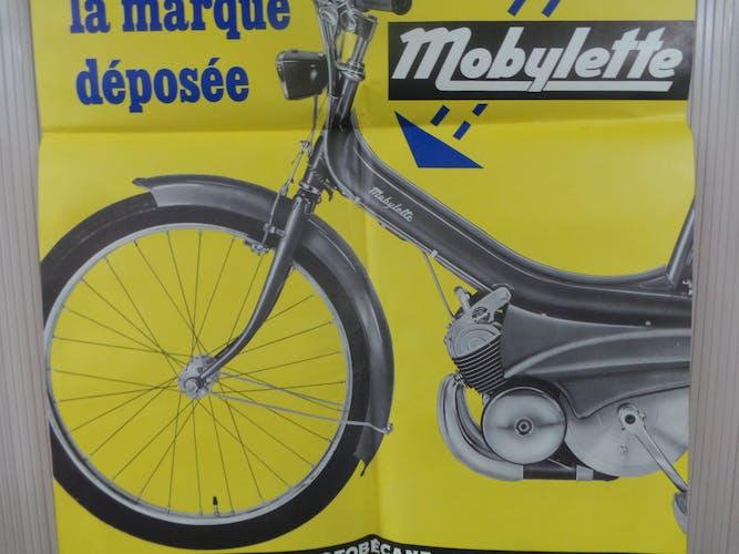 Original Motobecane motobecane motorcycle poster, only a real 1967