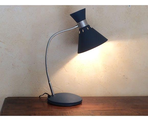 Lampe vintage Diabolo Aluminor 1960/70 bleue