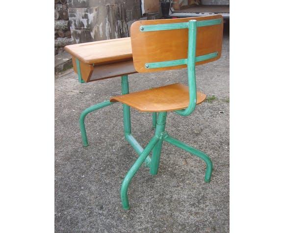 Bureau d'écolier avec chaise incluse de 1960