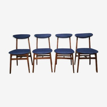 Quatre chaises par E.Hałas «Pologne 1960'»