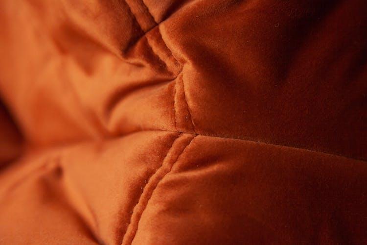 Set de 3 canapés Togo en velours ambre foncé par Michel Ducaroy pour Ligne Roset