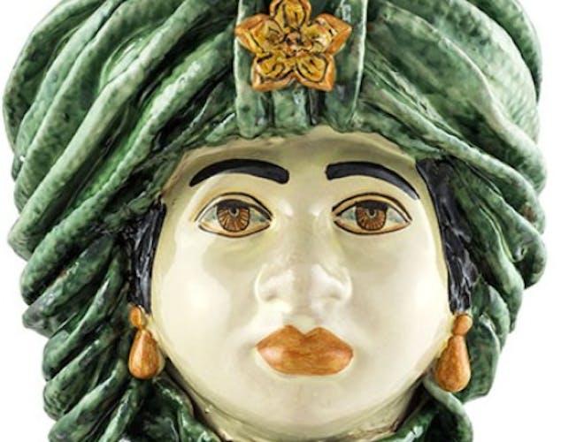 Vase turban vert femme