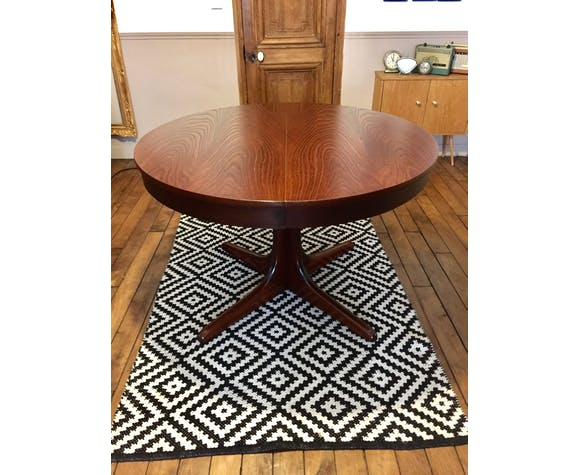 Table Ronde Extensible Vintage Design Scandinave Selency