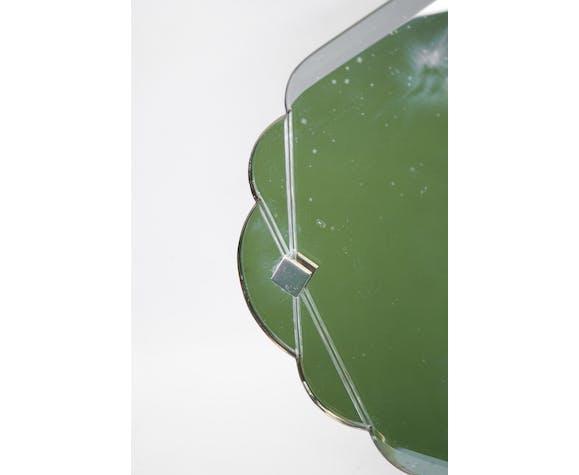 Miroir vintage biseauté ancien art déco 30/40's, 60x37