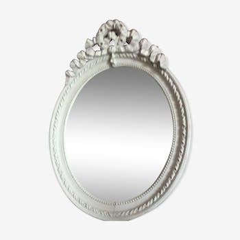 Ancien miroir noeud patine 48 x 70 cm