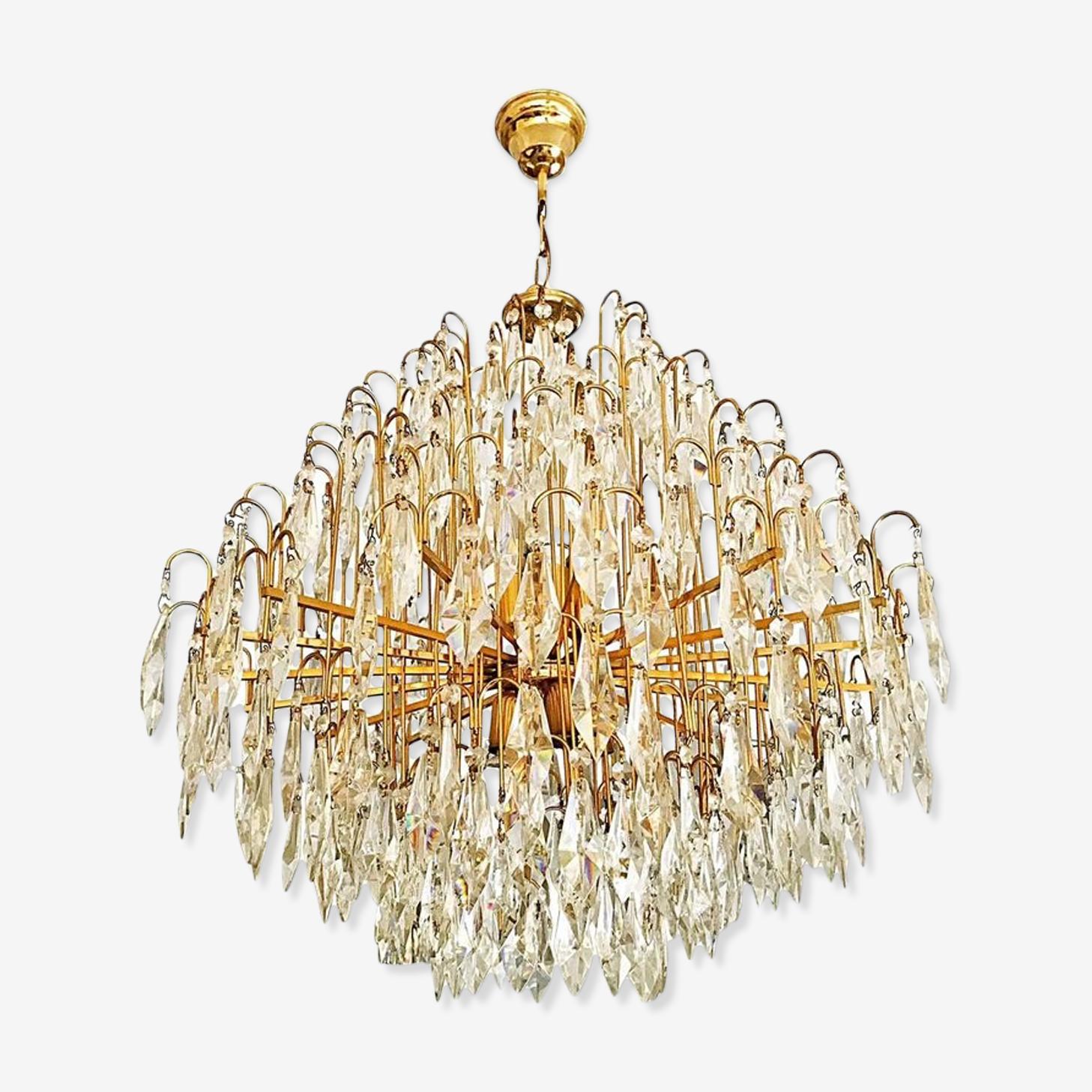Italian Murano 1970 crystal chandelier