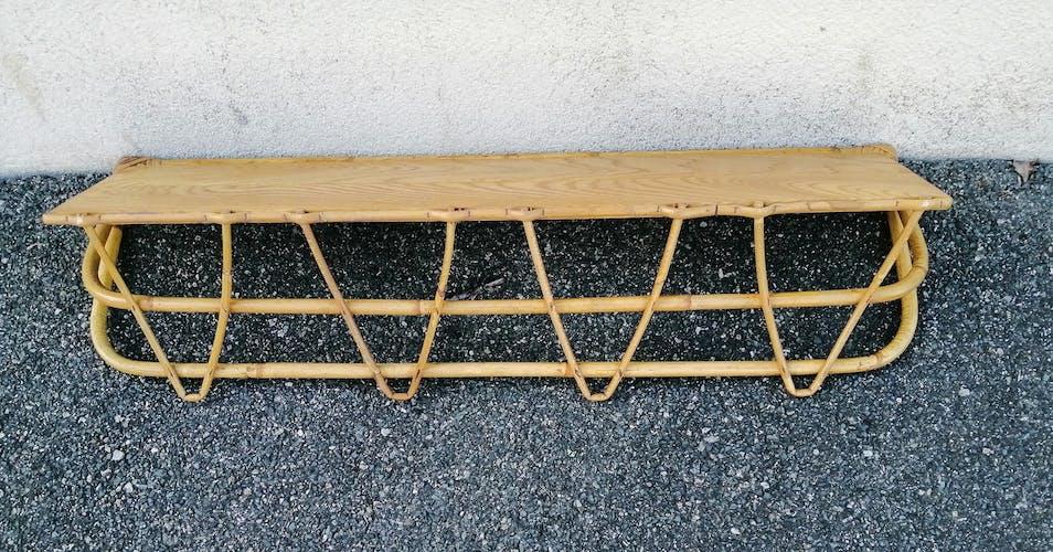 Étagère en rotin et bambou