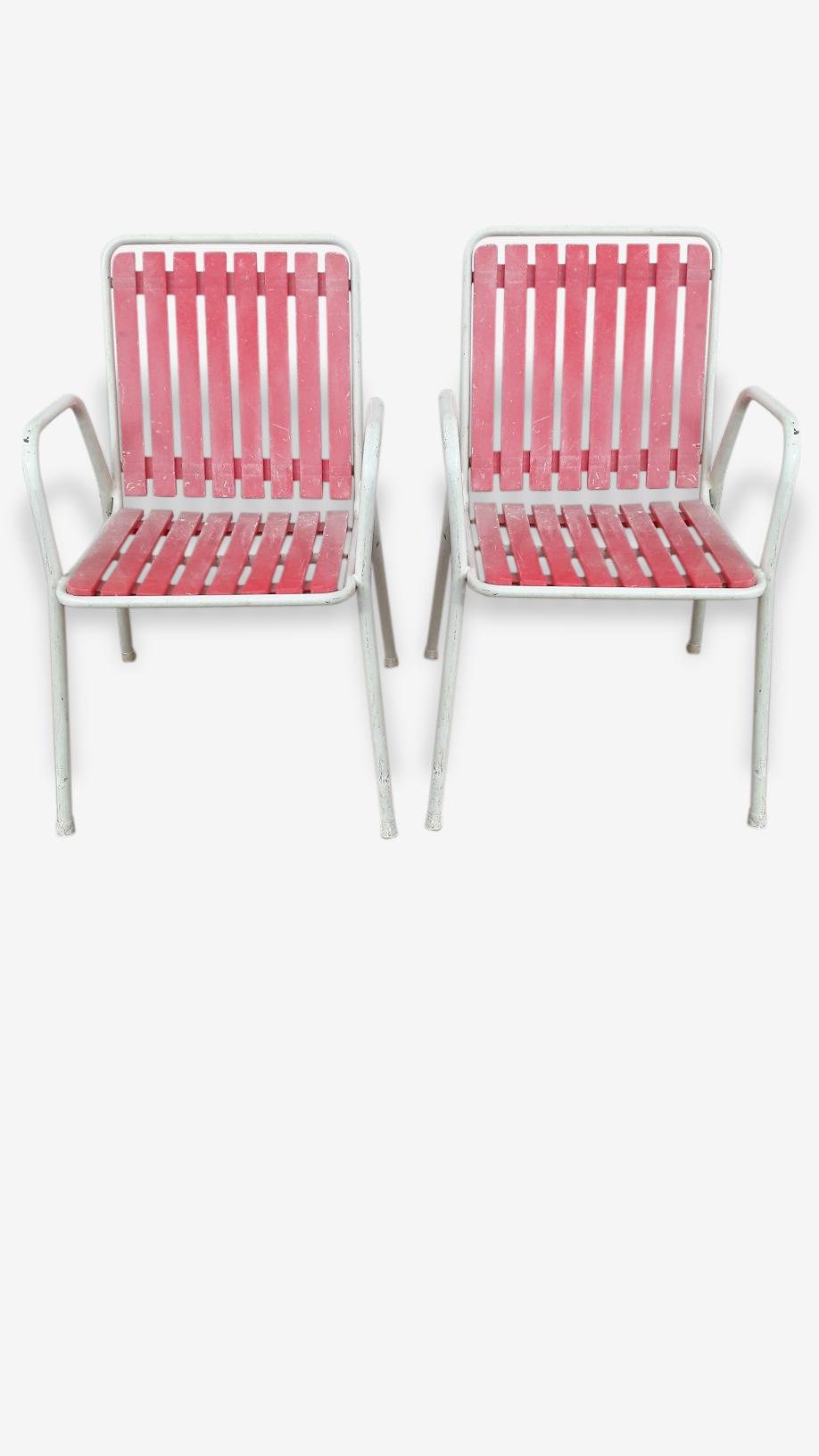 Paire de fauteuils de jardin vintage