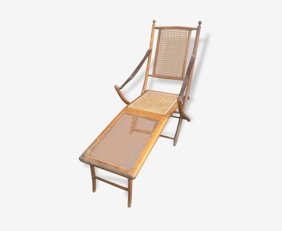 Chaise Longue Cannee De Style Coloniale
