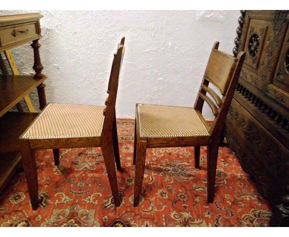 Paire de chaises 1940 estampillées J.Faure