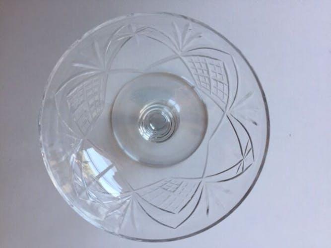 4 coupes à champagne cristal gravé Saint Louis