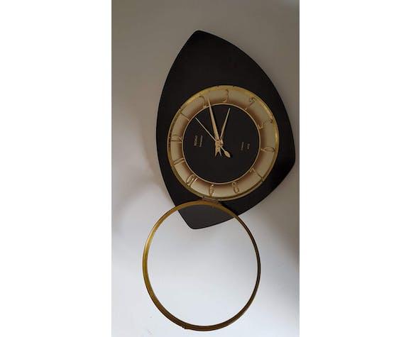Pendule murale formica noire et or marque Trophy Transistor