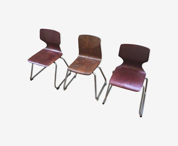 3 chaises enfant Pagholz