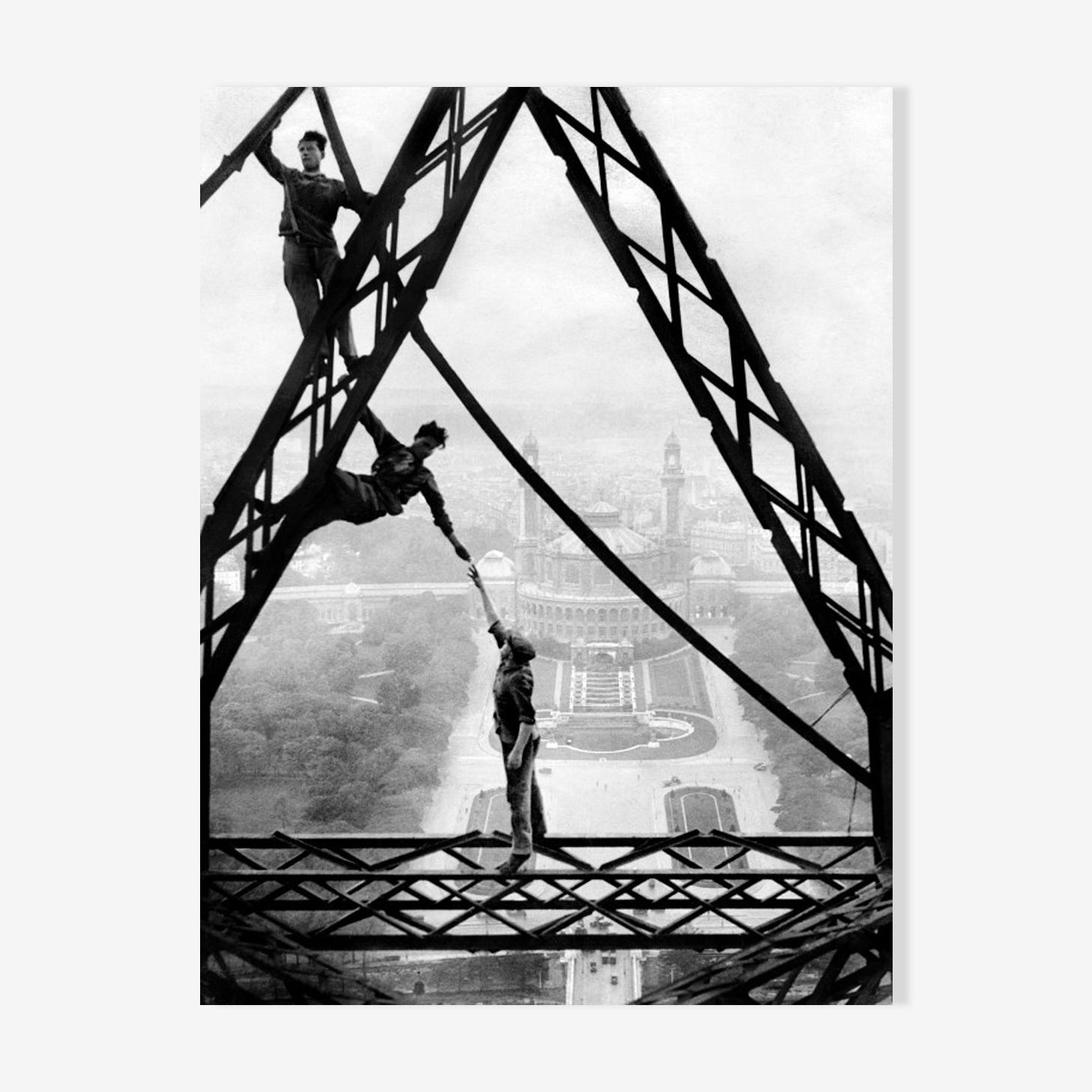 "Photographie ""ouvriers acrobates"""