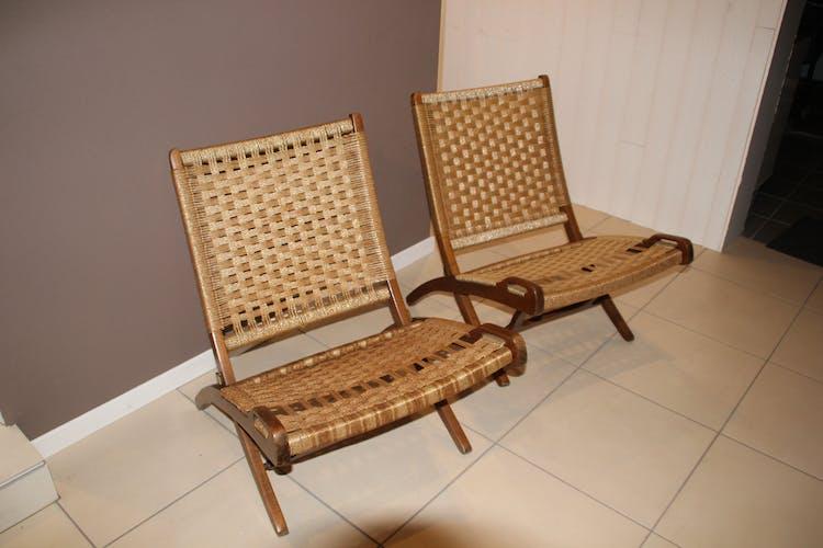 Pair of armchairs folding