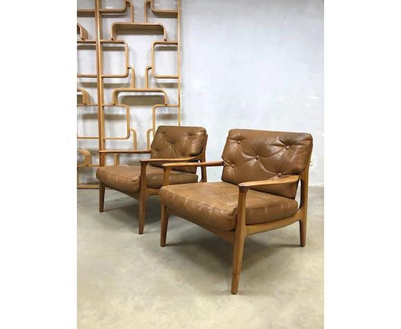 Lounge chairs vintage Eugen Schmidt Soloform design
