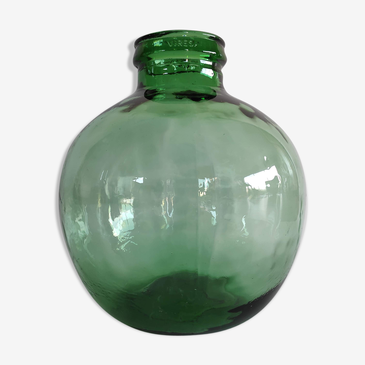 Dame-jeanne Viresa d'environ 20l en verre vert