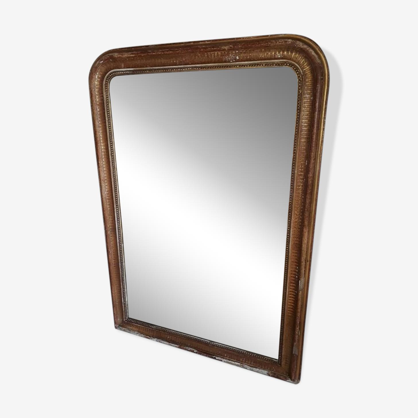 Miroir trumeau de cheminée Louis Philippe 134 x 95cm