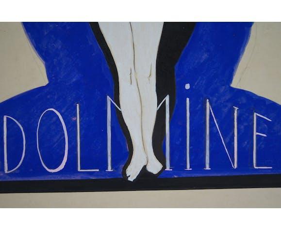 Projet d'affiche pour Dolmine - Gouache Paul Colas 1902-1993