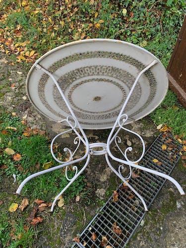 Table ronde de jardin vintage années 60
