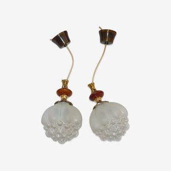 2 bubble hanging lamps Helena Tynell 60