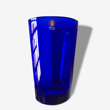 Kaj Franck glass for iittala rare cobalt blue vintage not reissued, Finland scandinavia