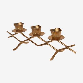 Scandinavian candlestick brass