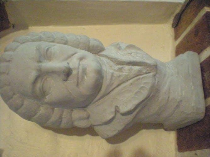 Buste en plâtre Salvatore Melani