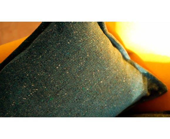 Pillows mottled blue wool