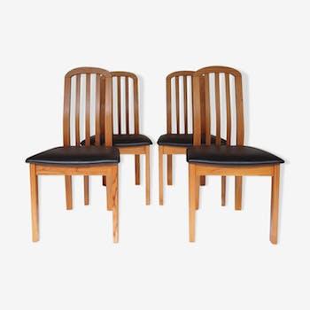 Lot de 4 chaises scandinave, danoises années 50