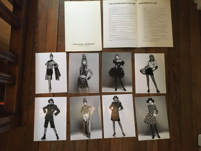 Jean-Louis Scherrer: illustration de mode & photo de presse 1992