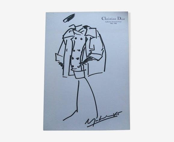Iillustration de mode vintage de presse  Christian Dior années 80
