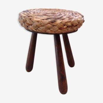 Stool seat raffia