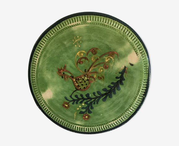Glazed terracotta platter