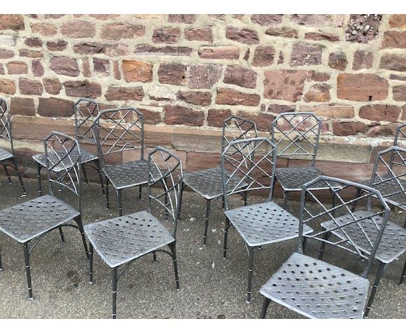 Chaises de terrasse vintage