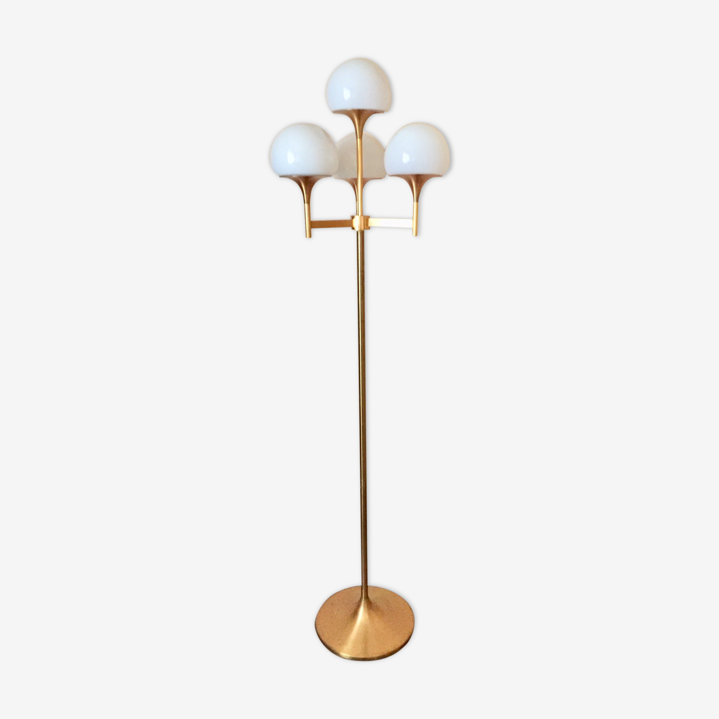 Golden lamppost design 70s Italian