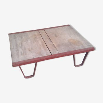 Vintage coffee table sncf metal industrial design