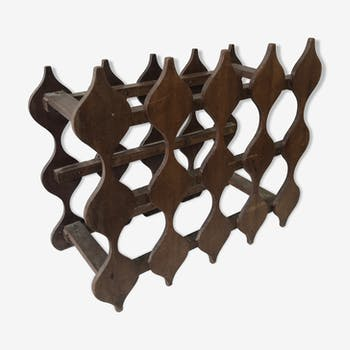 Wine rack wooden former Fauchon