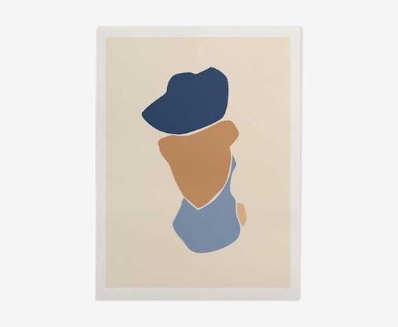 Illustration - bather blue A3