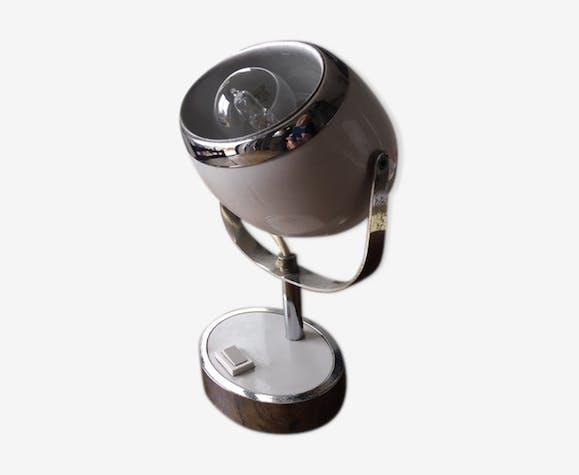 """Lampe """"eye ball """" en métal et plastique années 70"""