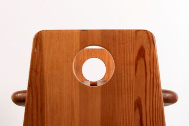 Stool in solid pine by Gilbert Marklund for Furusnickarn AB, Denmark, 1970 s