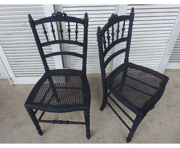 Set de quatre chaises dépareillées