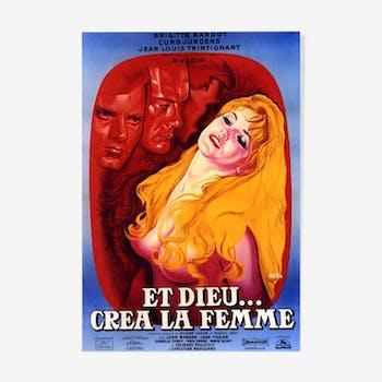 """Affiche """"Et dieu... créa la femme"""" 1956"""