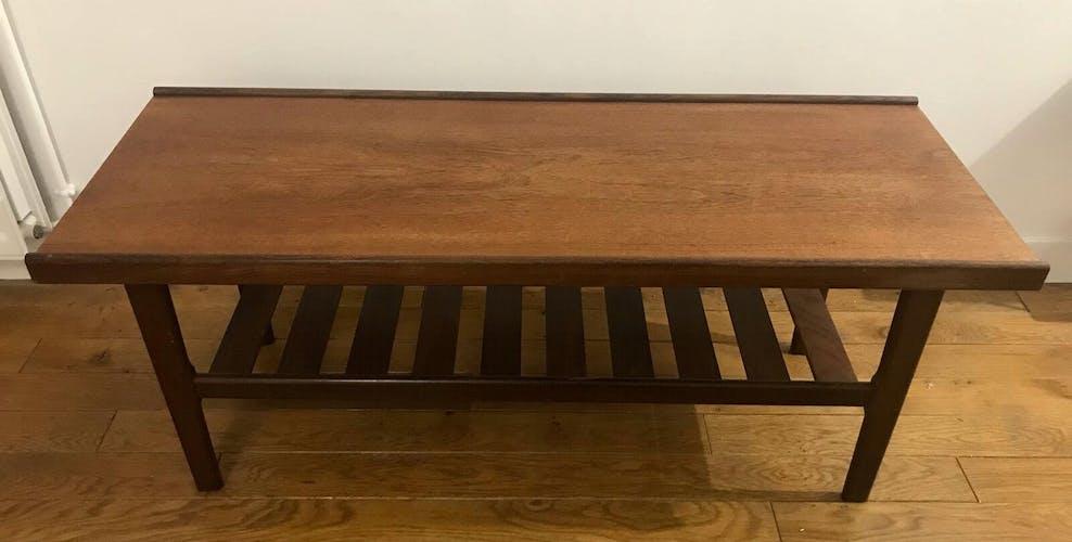 Table basse en bois teck