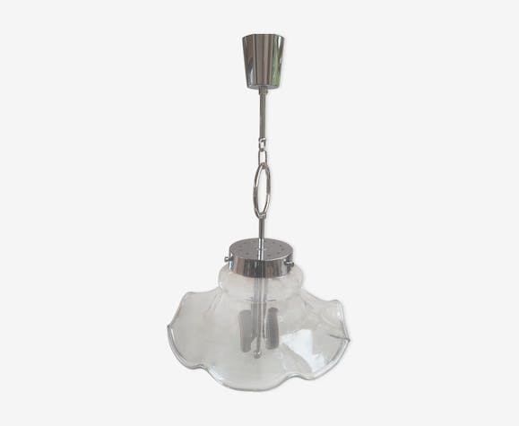 Suspension chrome et verre design 70