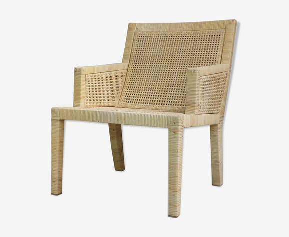 fauteuil berg re en rotin design jean michel frank dition ecart international rotin et osier. Black Bedroom Furniture Sets. Home Design Ideas