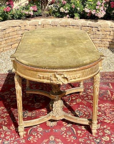 Table de milieu en bois doré Napoléon III XIXe