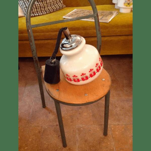 Lustre De Cuisine Vintage Opaline Seventies Selency