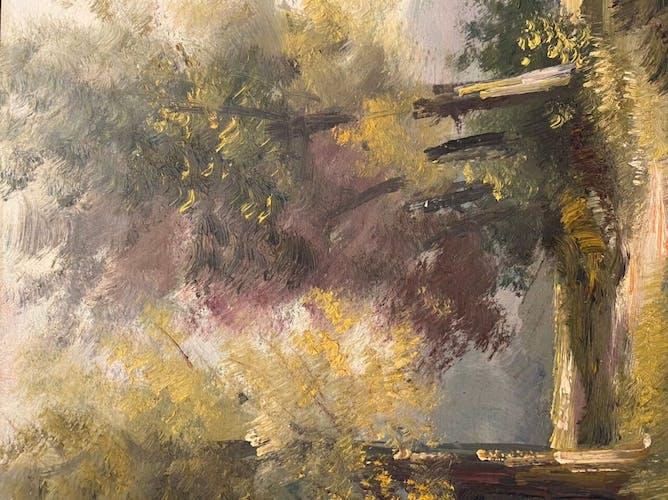 Tableau ancien, Paysage, Ecole Lyonnaise, milieu XX siècle